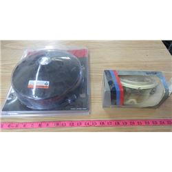 """ICE AUGER GUARD (ESKIMO, COVERS 9"""" TO 10"""" BLADES) AND GOGGLES (ANTI-FOG)"""