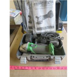 """ANGLE GRINDER (CORDLESS) *18 VOLT* (4.5"""" BLADE WIDTH) (COMES WITH CASE AND 2 CHARGERS)"""