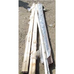 """LOT OF MISC CARPENTRY ITEMS (2 X DOORS 80"""" X 28"""" AND 77"""" X 36"""") *VARIOUS BASEBOARDS*"""