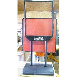 """COCA-COLA STAND (57"""" TALL) *BASE 23"""" X 14""""*"""