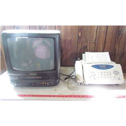 "T.V. AND FAX (20"" CITIZEN TV WITH BUILT IN VCR) *BROTHER FAX MACHINE*"
