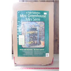 "MINI GREEN HOUSE (NOS) *4 TIERS* (PLASTIC COVER WITH ZIPPER) *5'2"" X 2'3"" X 19.25""*"