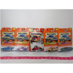 LOT OF 5 MATCHBOX TOYS (HOLDEN COMMODORE, SUPRA, ROAD ROLLER, ETC...)