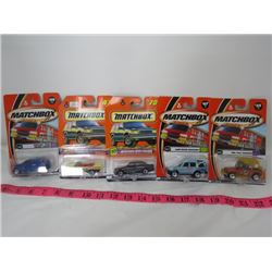 LOT OF 5 MATCHBOX TOYS (MERCEDES, 57 CHEV, LAND ROVER, ETC...)