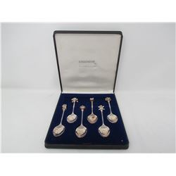 SET OF COLLECTORS SPOONS (WITH CASE) *6 SPOONS* (SILVER PLATED)
