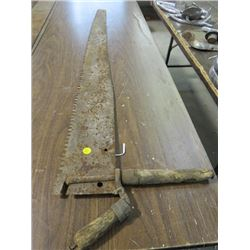 """1 SAW BLADE WITH HANDLE (47"""" X 4"""")"""