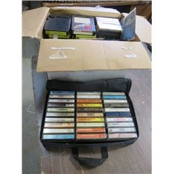 LOT OF ASSORTED CASSETTES (87 TOTAL)