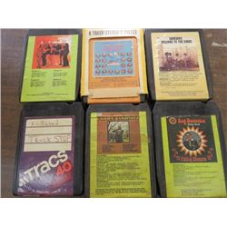 LOT OF 8 TRACK TAPES (6 TOTAL)