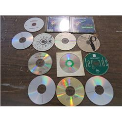 LOT OF ASSORTED COMPACT DISKS (13 TOTAL)