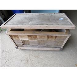 """CHEST WITH ASSORTED CONTENTS (LOTS OF GOODIES) * 29.5"""" X 17"""" X 16""""*"""