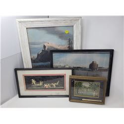 4 ASSORTED PICTURES/PAINTINGS
