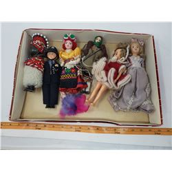 LOT OF 6 CELLULOID DOLLS