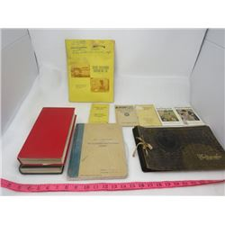LOT OF BOOKS ( VINTAGE PHOTO ALBUM, COMPLETE FIELD GUIDES TO NORTH AMERICAN WILD LIFE, ETC)