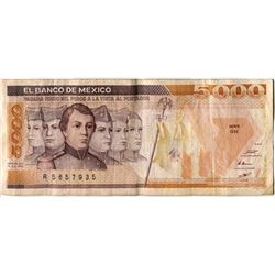 FIVE THOUSAND PESO BILL (BANK OF MEXICO) *1985*