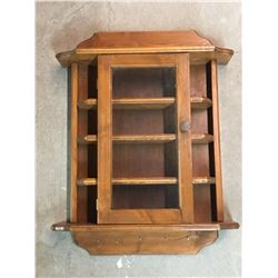 HANGING SHELF HUTCH (WOODEN COLLECTABLES)  *26 x 19*