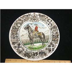 """COMMEMORATIVE PLATE (10"""" RCMP) *WOOD & SONS*"""