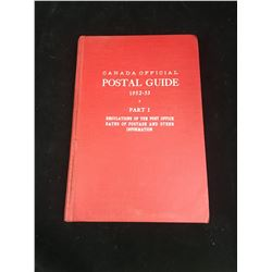 1952-53 CANADA POST REGULATIONS, RATES AND INFO BOOK