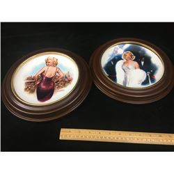 LOT OF 2 MARILYN MONROE PLATES AND FRAMES