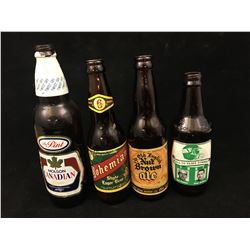 LOT OF BEER BOTTLES (ROUGHRIDERS, MOLSON, ETC..) *VINTAGE*