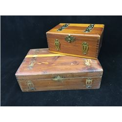 LOT OF WOODEN TRINKET BOXES