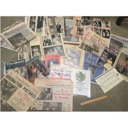 HUGE LOT OF ROYALTY RELATED PAPER  (SCRAPBOOKS, MAGAZINES, ETC…)