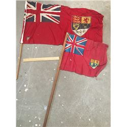 VINTAGE CANADIAN ENSIGN FLAGS