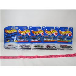 LOT OF 5 HOTWHEEL TOYS (67 CHARGER, VIPER, CORVETTE, ETC…)