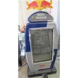 "RED BULL GAS PUMP COOLER (64.5"" TALL X 26.5 LONG X 18.5 WIDE) * AS IS*"