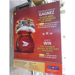 "CANADA POST POSTER (ENTER TO WIN THE BIG BAG OF HOLIDAY PRESENTS) *22"" WIDE X 28"" TALL)"