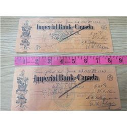 LOT OF 2 IMPERIAL BANK OF CANADA BANK NOTES ($14.00-$20.00)