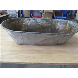 "SMALL BABY TUB (GALVANIZED) *26"" LONG X 13"" WIDE X 15.5"" DEEP*"