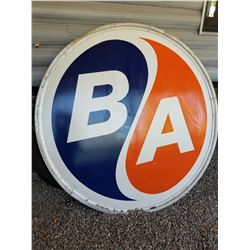 6' ROUND B/A SIGN (PORCELAIN) *WITH RING* (DOUBLE SIDED) *NEAR MINT CONDITION*
