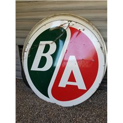 6' ROUND B/A SIGN (PORCELAIN-DOUBLE SIDED) *VERY GOOD CONDITION*