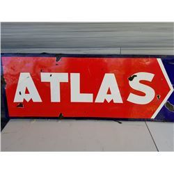 "ATLAS SIGN (PORCELAIN) *6' X 18""*"