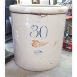RED WING OPEN CROCK (HUGE 30 GALLON) *CHIP ON RIM AND CRACK ON BACK SIDE*