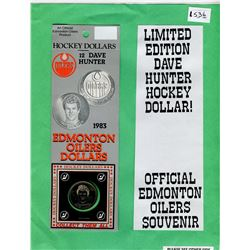 LOT OF 2 OFFICIAL ISSUE EDMONTON OILERS DAVE HUNTER HOCKEY DOLLARS (ORIGINAL PACKAGES)