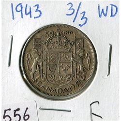 FIFTY CENT COIN (CANADA) *1943* (WIDE DATE)