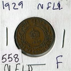 LARGE ONE CENT COIN (CANADA) *1929* (NEWFOUNDLAND)