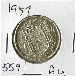 FIFTY CENT COIN (CANADA) *1957*