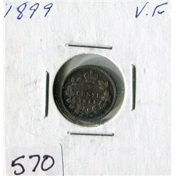 FIVE CENT COIN (CANADA) *1899*