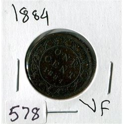 LARGE ONE CENT COIN (CANADA) *1884*