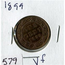 LARGE ONE CENT COIN (CANADA) *1899*