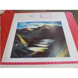 """PRINT (LIGHT AND SHADOW) *79/777* (SIGNED BY FRANKLIN CHARMICHAEL) *COA* (20"""" X 24"""")"""