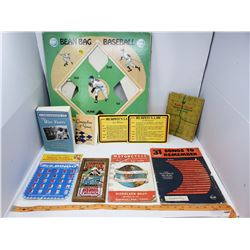 LOT INCLUDING A VINTAGE GAME, BOOK, COOK BOOKS ETC…