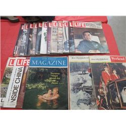 LOT OF 17 MAGAZINES (14 X LIFE 1971) *2 X PRINCE ALBERT HERALD 1960*