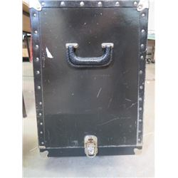 "TRUNK (INSTRUMENT CARRIER) *TAPERS WIDER AT THE BOTTOM: 18"" X 16.5"" TOP: 17.5"" X 13.5""* (ON CASTORS)"