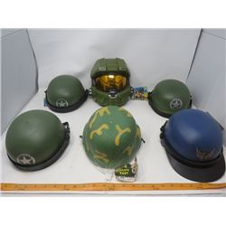 LOT OF 6 TOY HELMETS (NOS) *SMALL CHILD SIZE*
