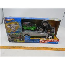 HOT WHEELS (NOS) *MONSTER JAM TRAVEL THREADS HAULER*