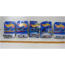LOT OF 5 HOT WHEELS (DOUBLE VISION, STREET BEAST, FIREBIRD, 1963 T-BIRD, 2004 CHEVY FLEETLINE)