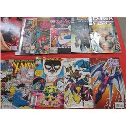LOT OF 20 COMICS AND MAGAZINES (5-X-MEN) *7-O MAGAZINE* (5 MISC COMICS) *WEIGHT WATCHERS* (FRONT PAG